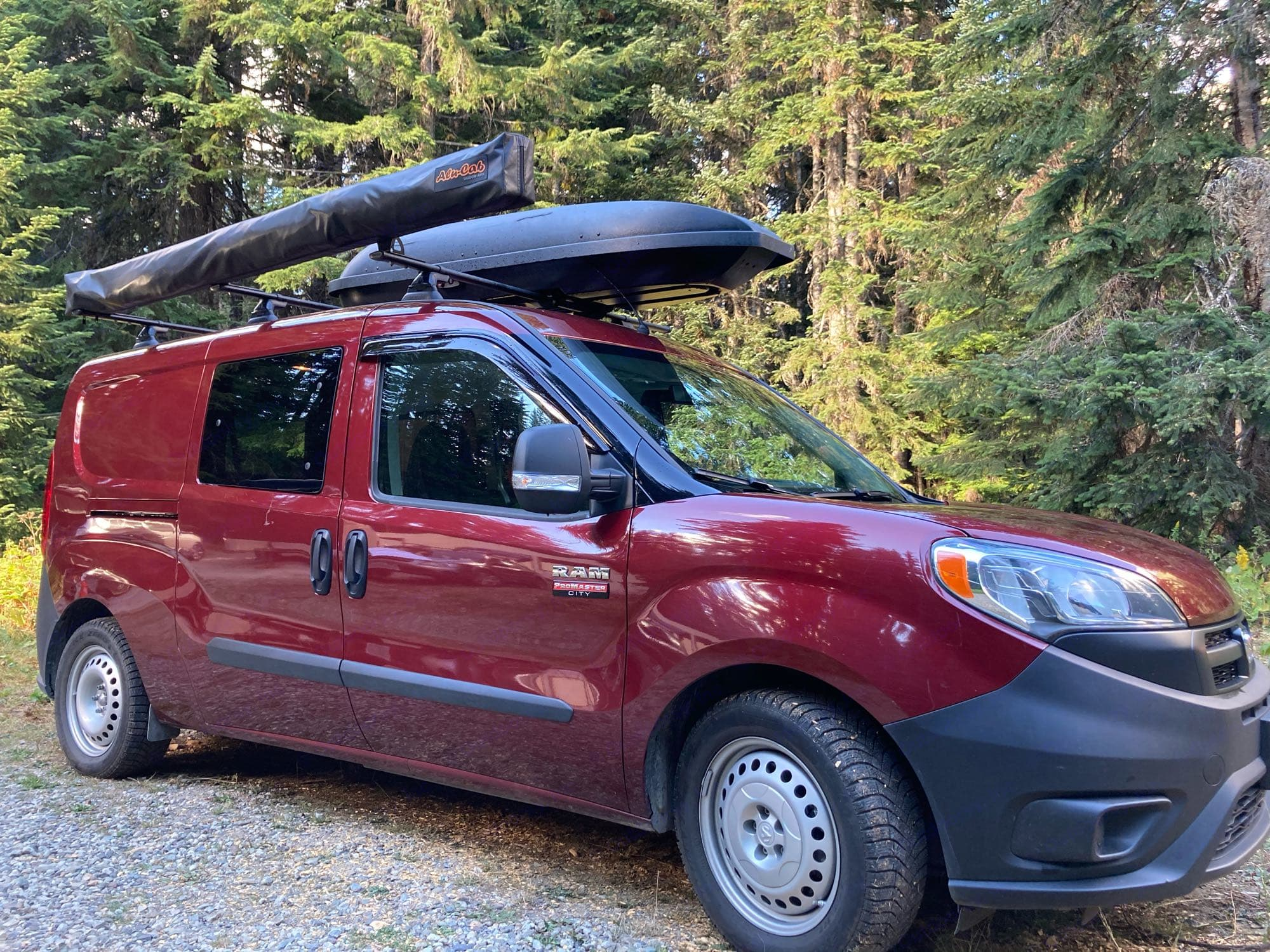 Ready for the road - under 30k miles but this van already has been to Alaska, Southern California, Glacier National Park, and all over WA and OR!. Ram Promaster City 2018
