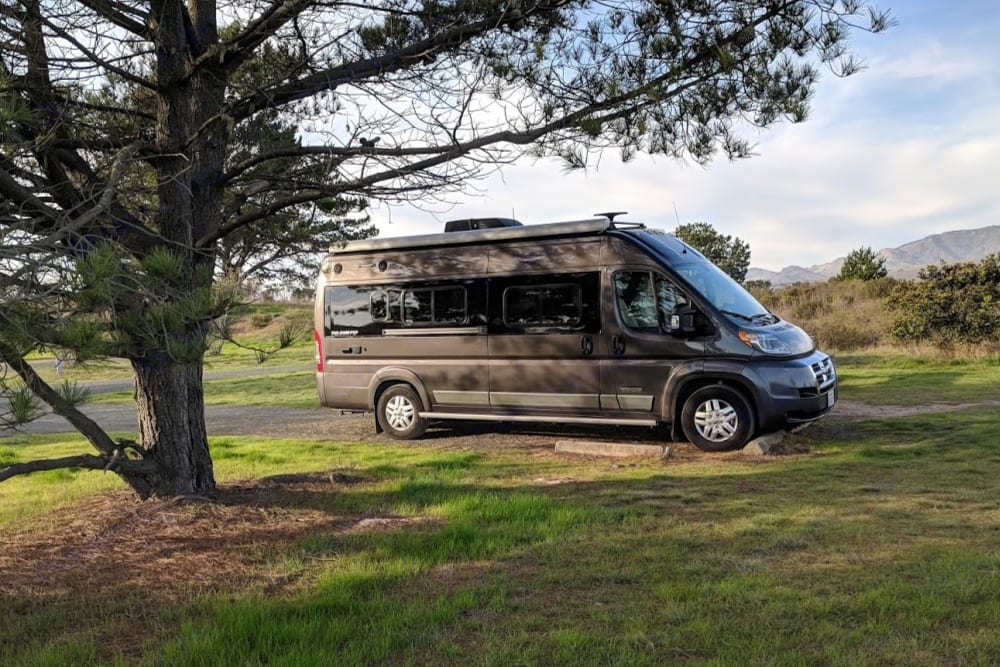 San Simeon Campground in December. Winnebago Travato 2019