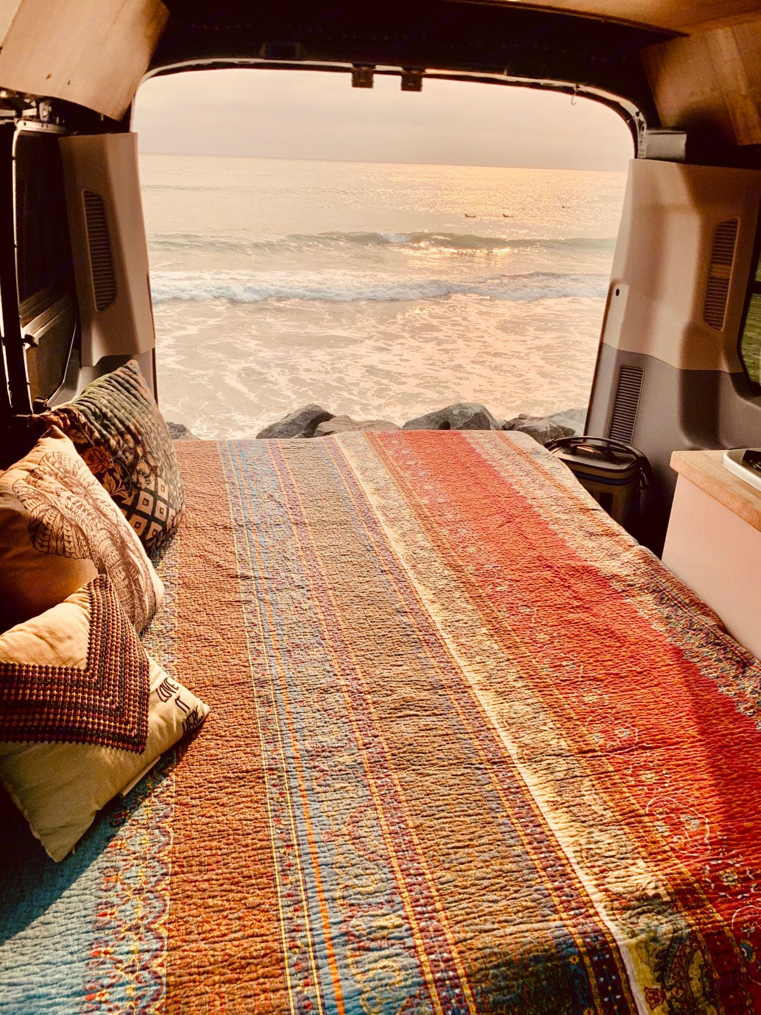 This is the view you can wake up to every morning! Plenty Of Room! Comfy Tempurpedic Mattress!. Ford Transit 350 XLT ECOBOOST 2020