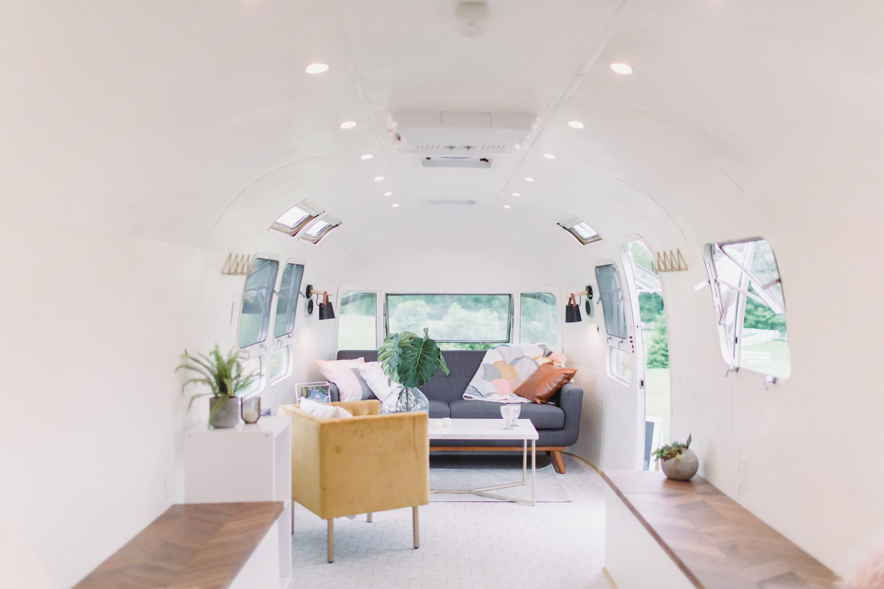 The living area is bring, inviting and comfortable.. Airstream Land Yacht 1976