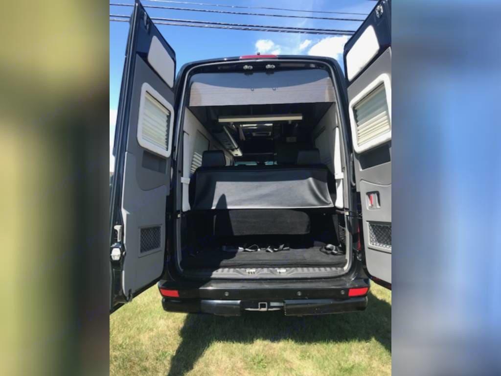 large rear doors...plenty storage. Airstream Interstate 2014