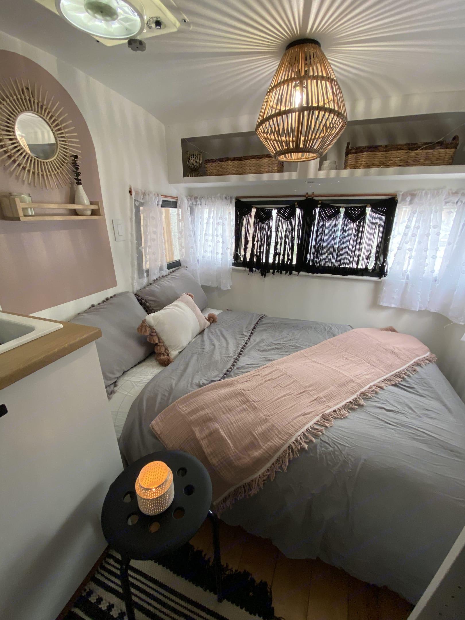 Bedroom view. Shasta Airflyte 1963