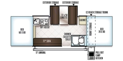 Floorplan. Forest River Rockwood Premier 2014