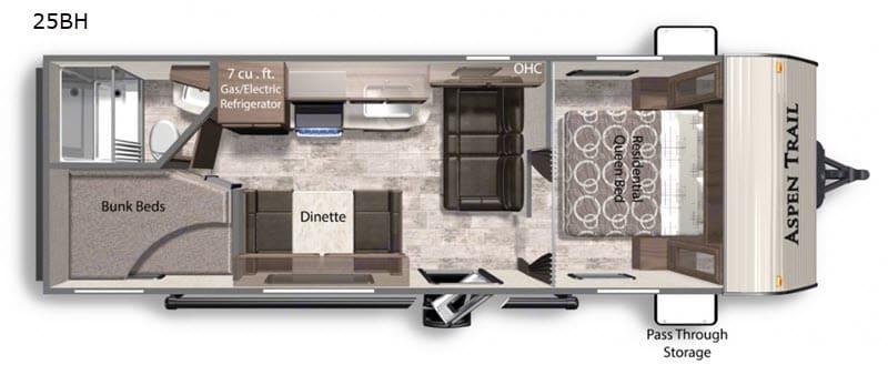 Floor Plan. Dutchmen Aspen Trail 2021