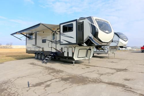 Fully expanded picture of RV. Keystone Montana High Country 2020