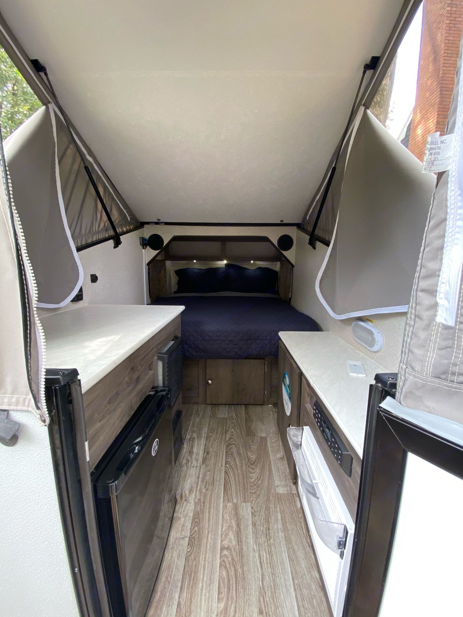 The pop up back leaves almost 7ft of vertical standing room at the tallest point! . Viking Express 9.0TD 2020