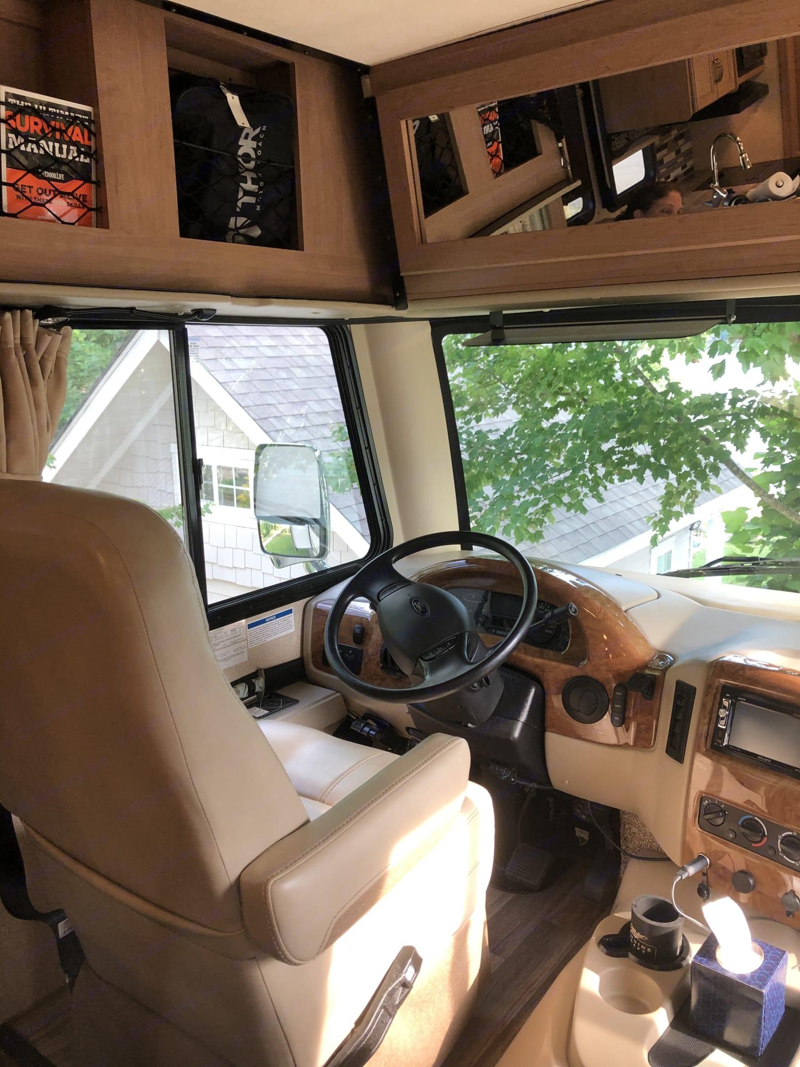 Drivers seat. Thor Motor Coach A.C.E 2018