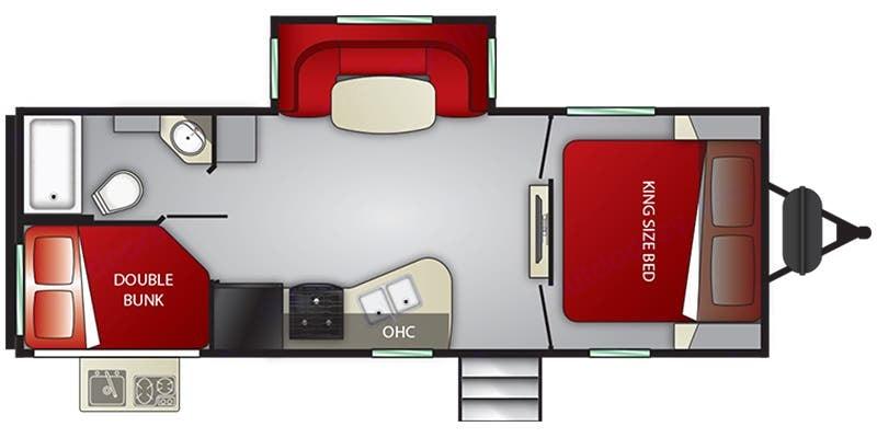 Floorplan. Cruiser Rv Corp Radiance 2019