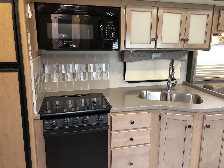 Kitchen area. Thor Motor Coach Windsport 2019
