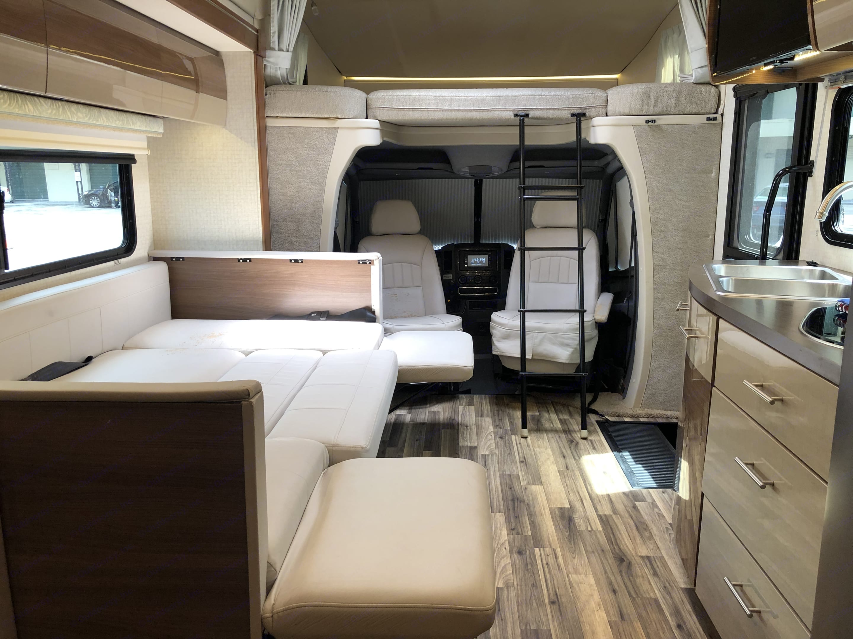 Secondary resting area/table converted. Winnebago View 2017