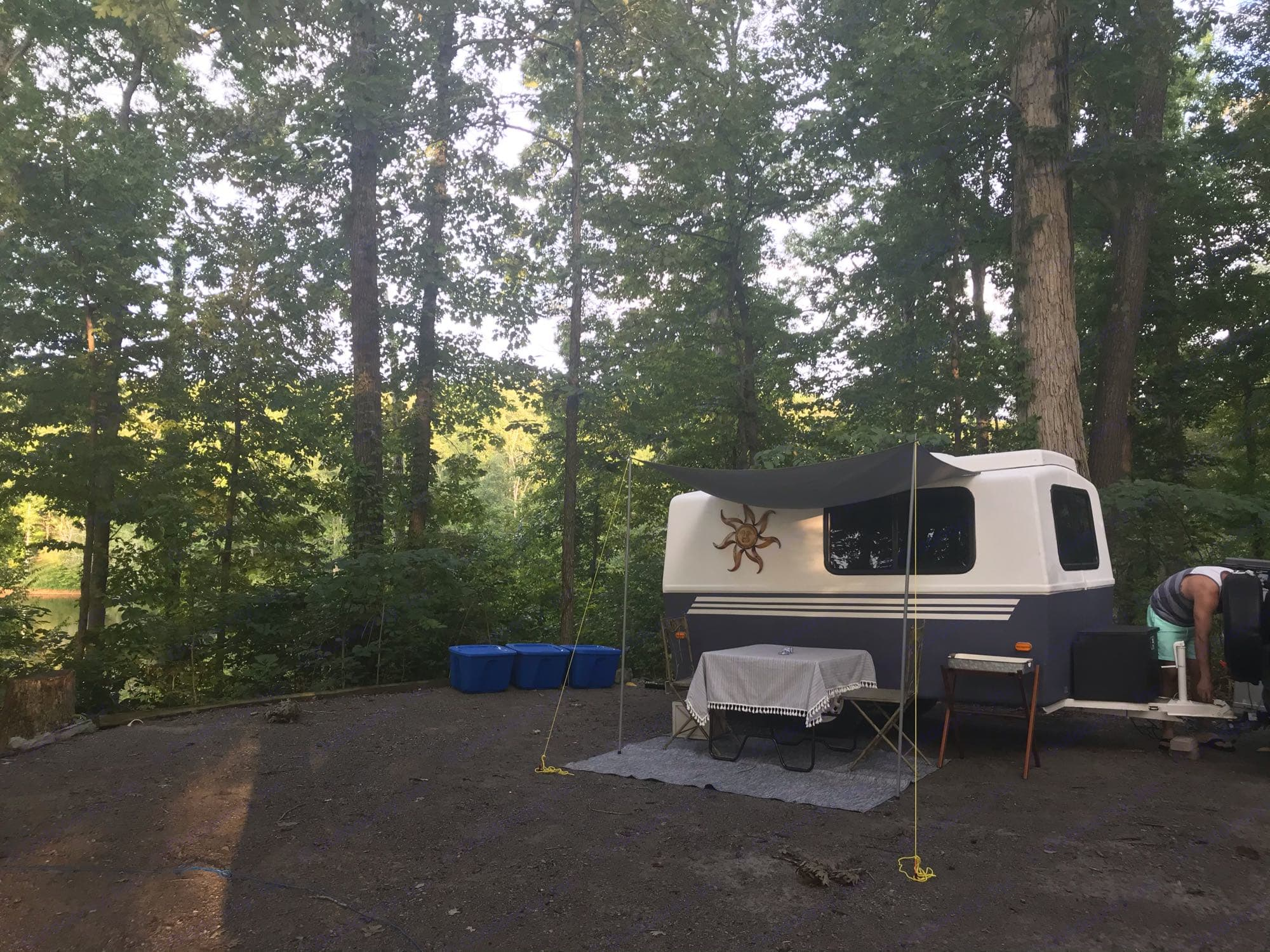 Red Top Mountain State Park- Patio setup. Hunter Compact Junior 1971