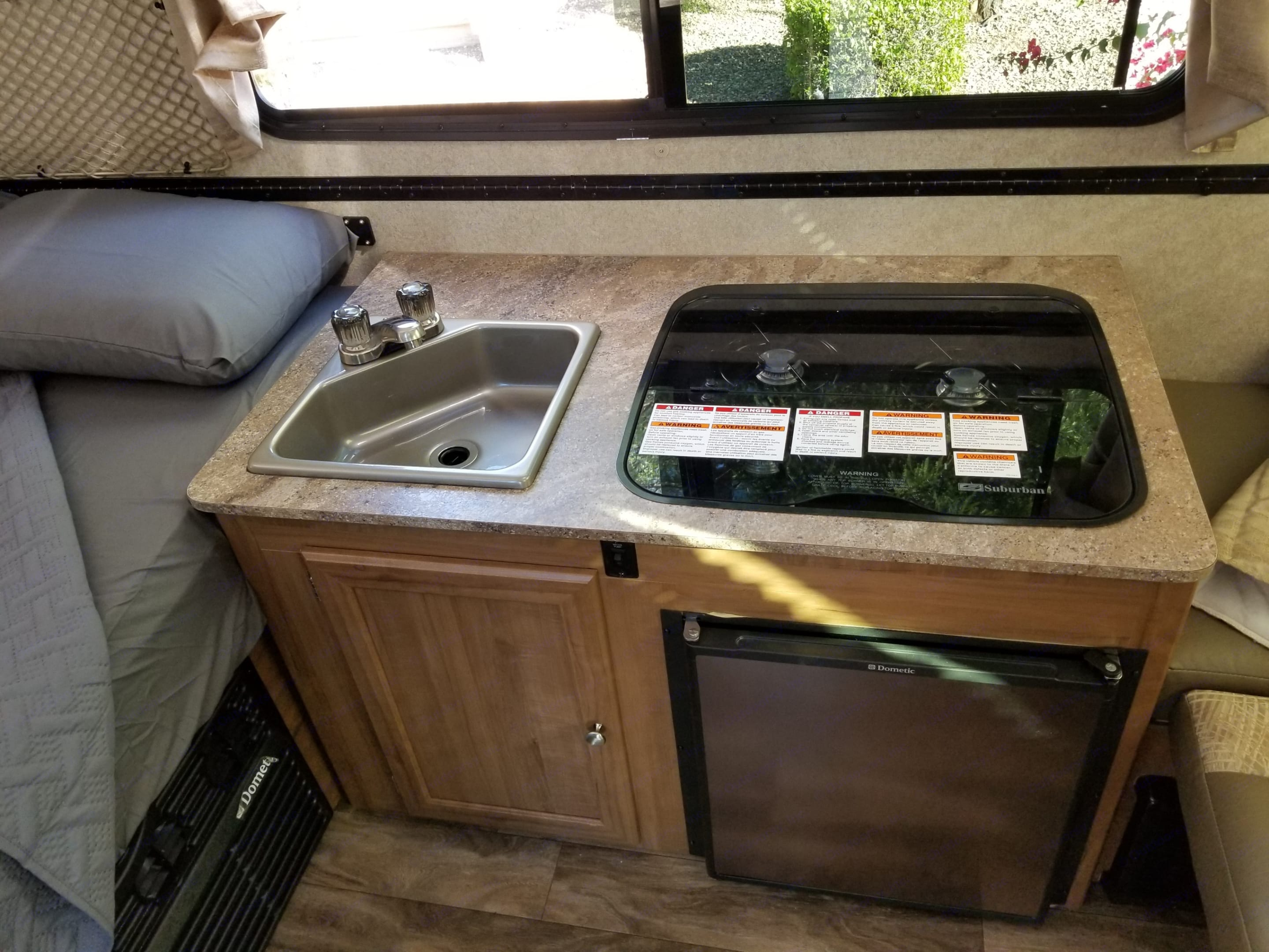 sink/stove top/fridge/AC and Heat output. Forest River Flagstaff 2017