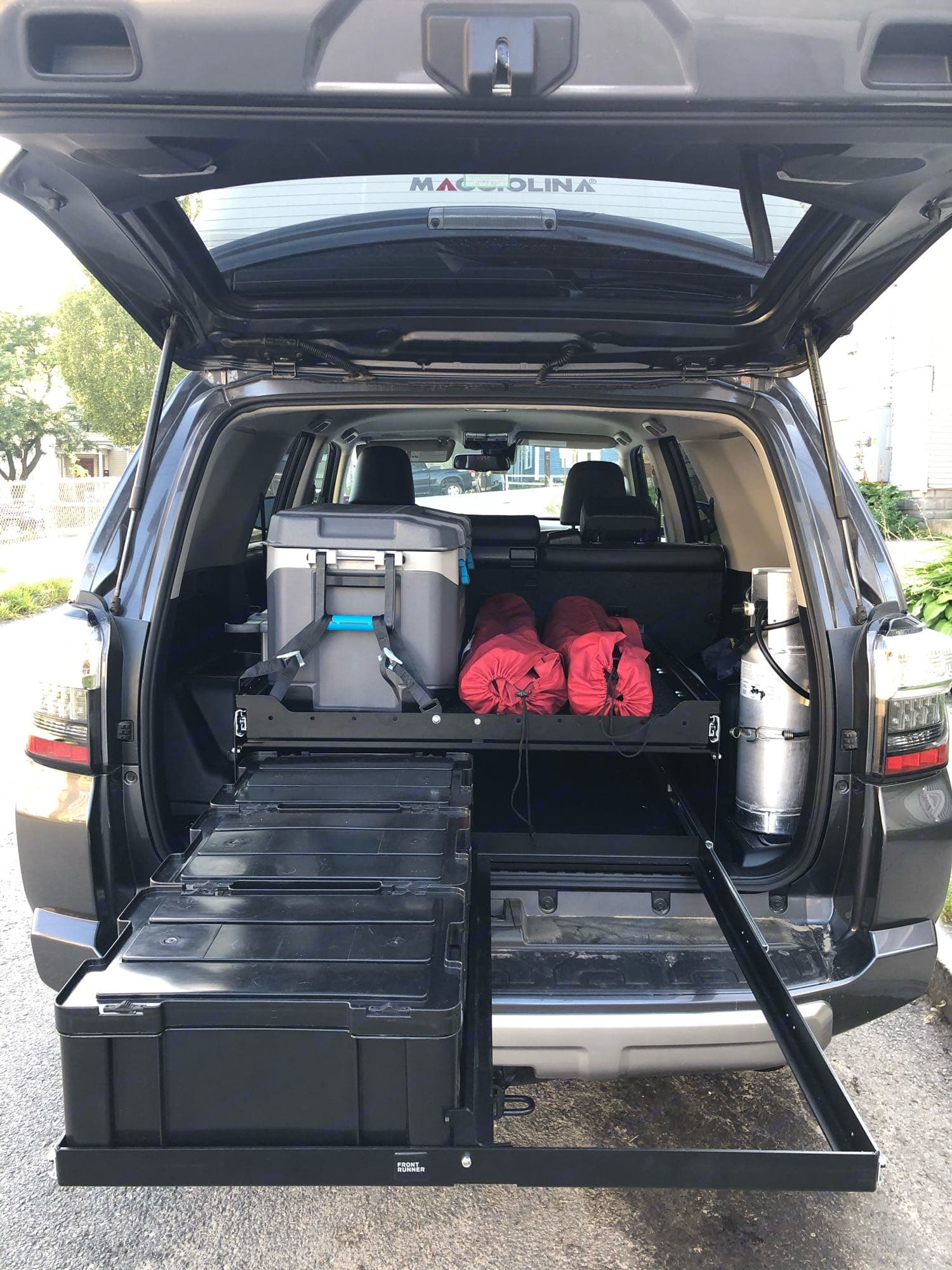 Pull out storage for kitchen gear and more!. Toyota 4Runner 2020