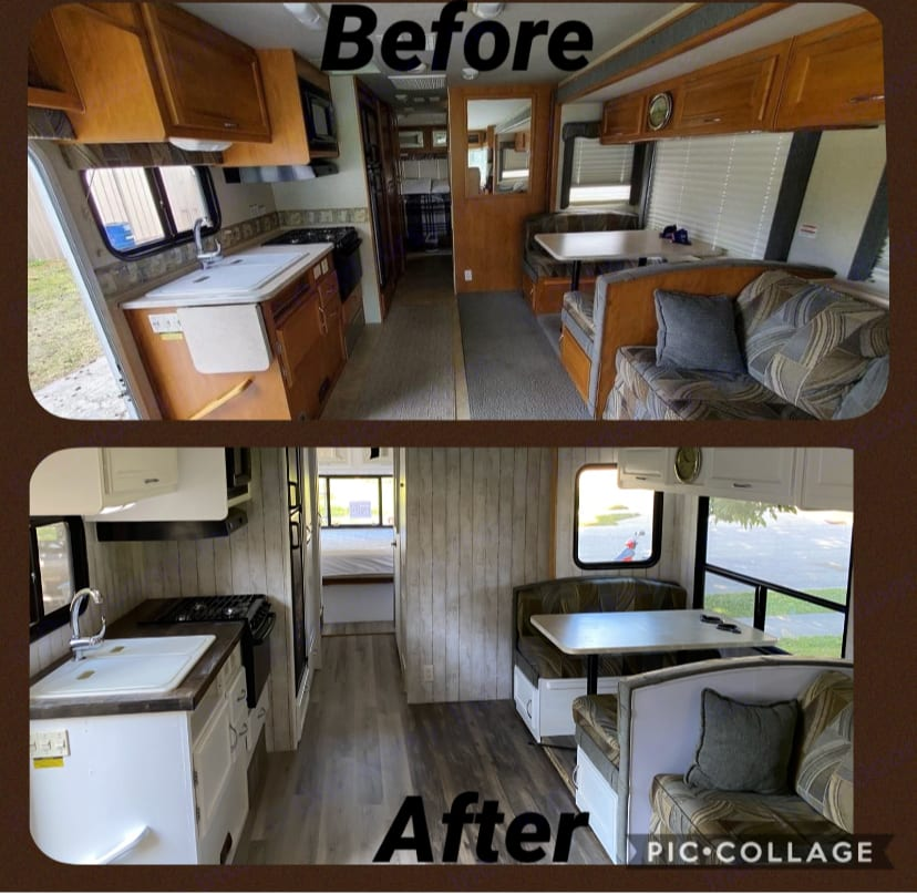 Before and After Remodel. Fleetwood Fiesta 2006