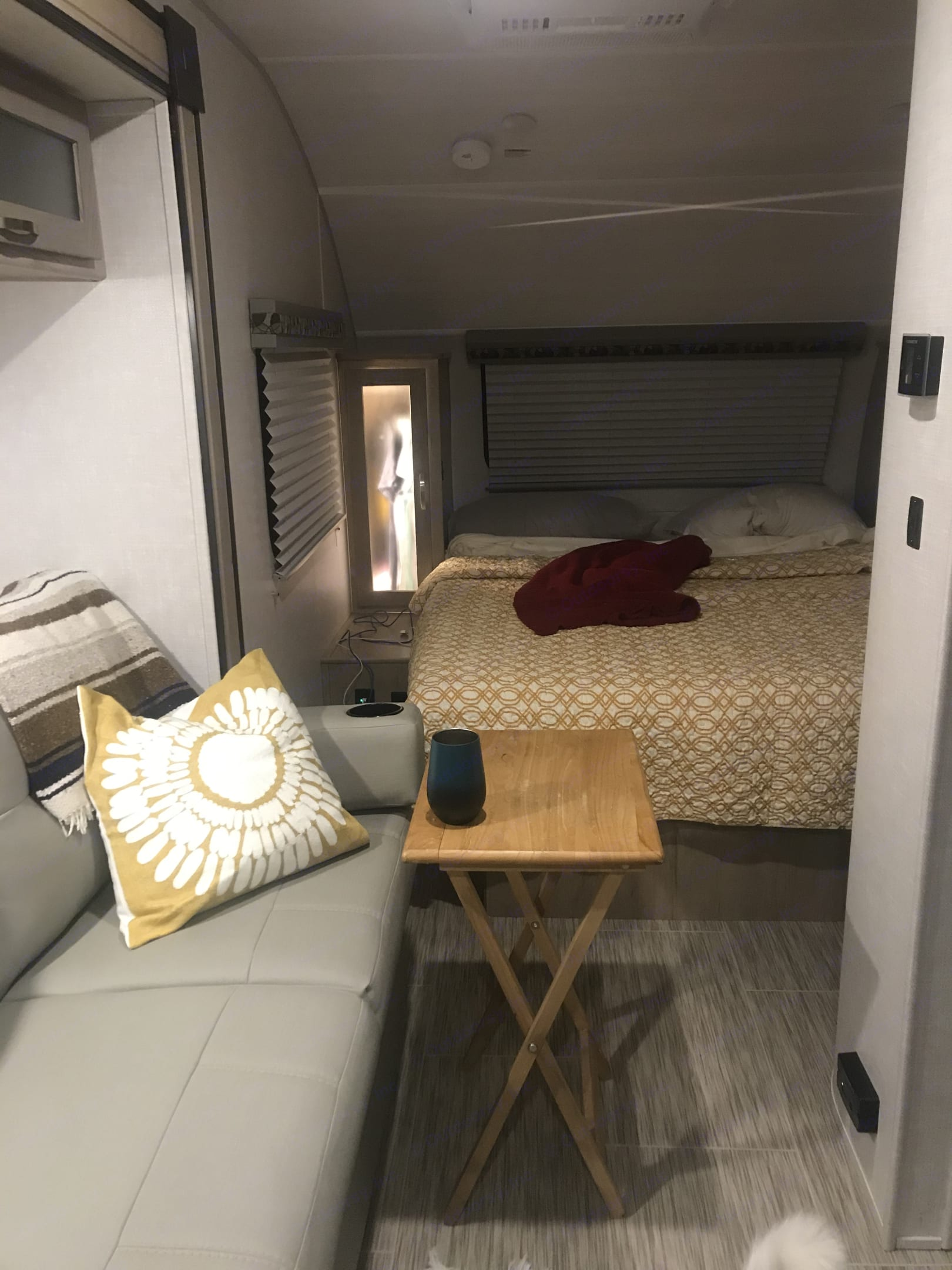 View from Kitchen to Bedroom Area. Forest River R-Pod 2021