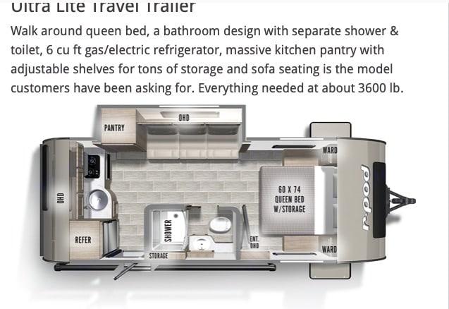 Floorplan. Forest River R-Pod 2021