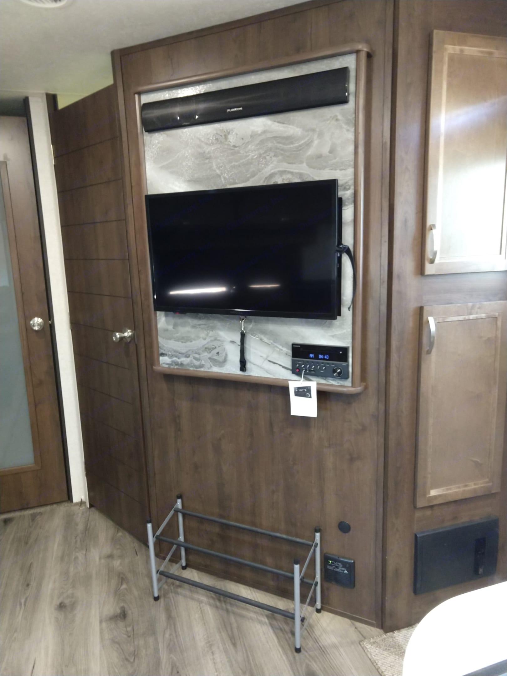 TV in living room. Open Range Open Range 2019