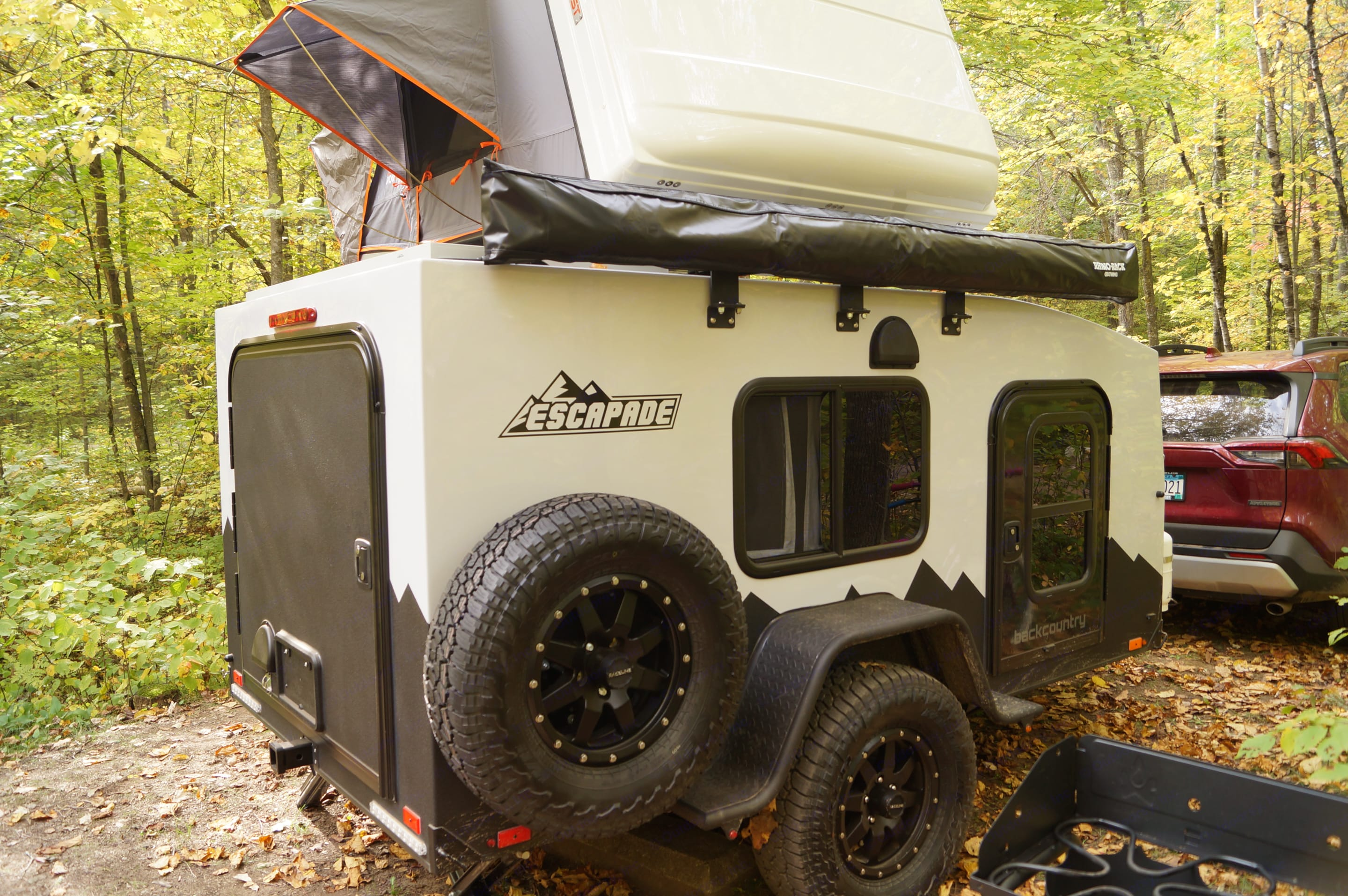 Camper has two windows and two doors with screens.. Custom Camper 2020