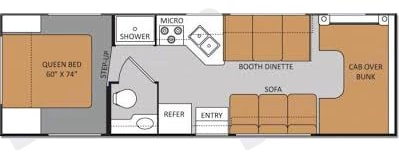 Floor Plan. Thor Motor Coach Four Winds 2021