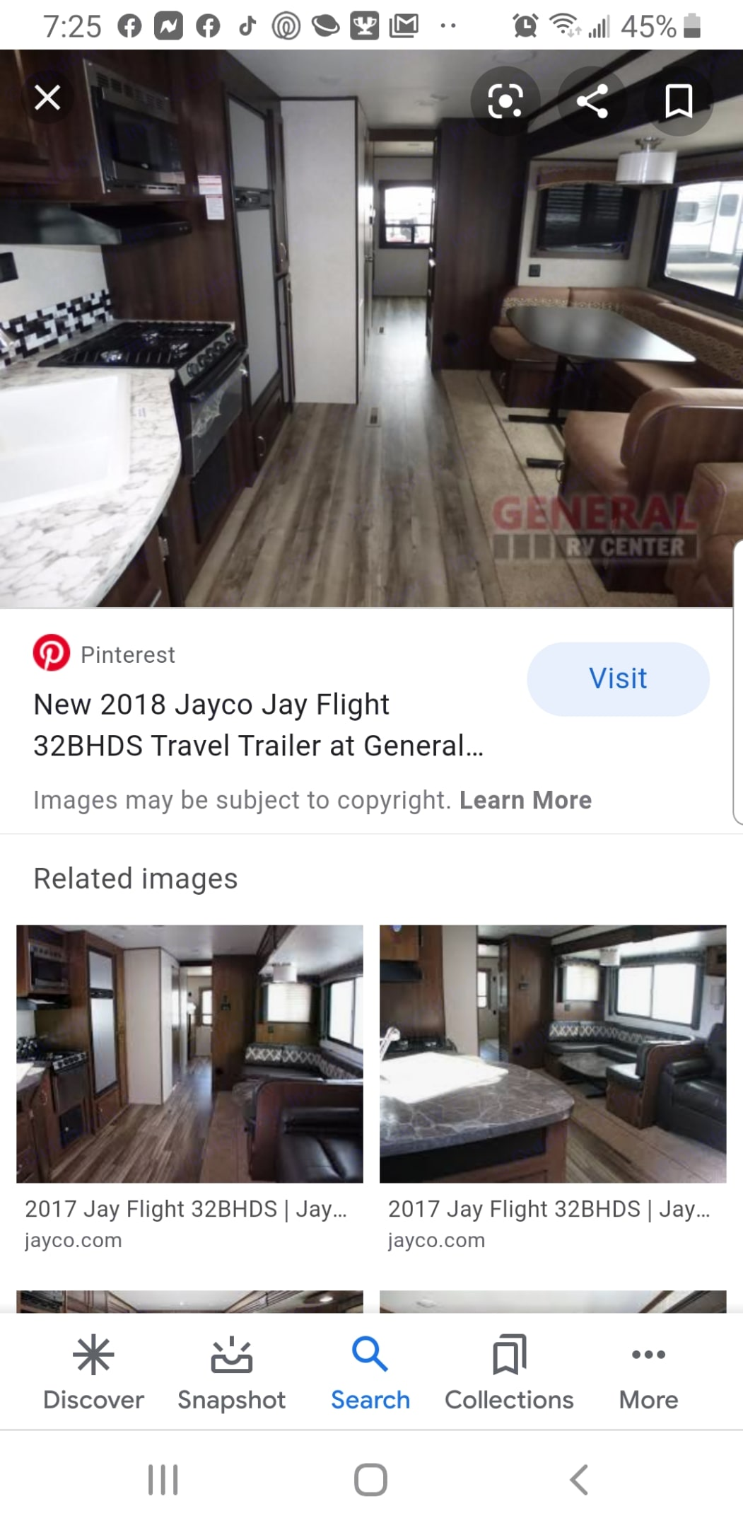 This is what it looks like inside. Inside kitchen and outside.. Jayco Jay Flight 2018