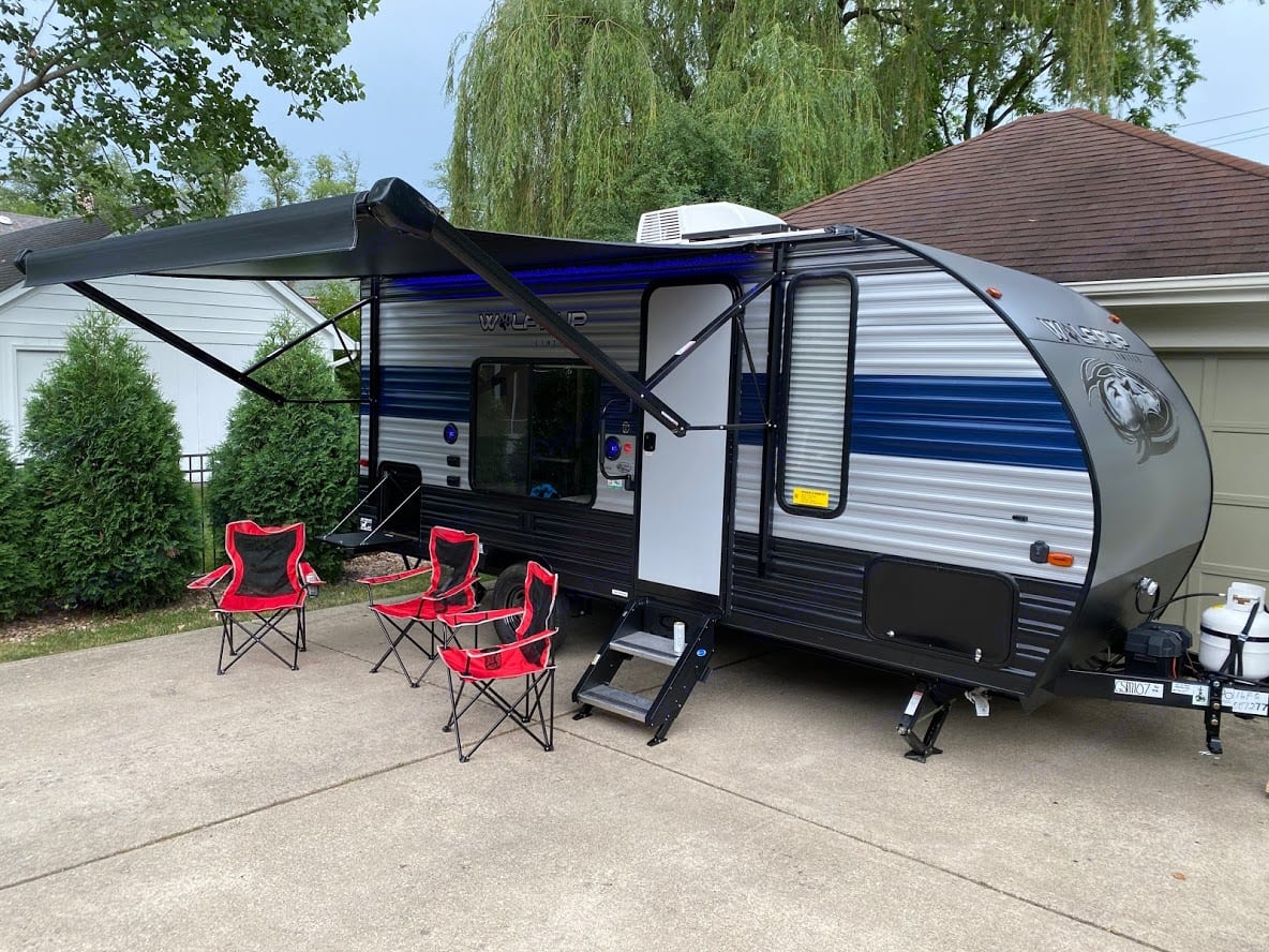 Camping Set-Up. Forest River Cherokee Wolf Pup 2021