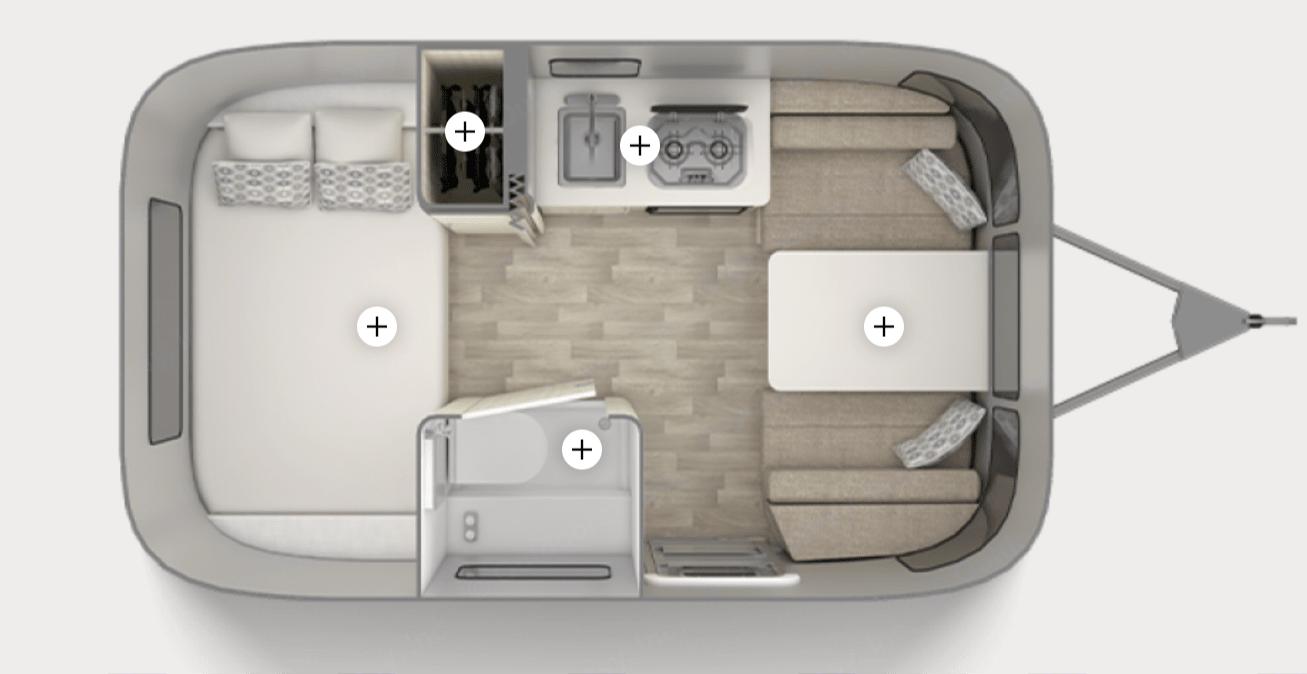 Floorplan. Airstream 16ft Bambi Sport 2016