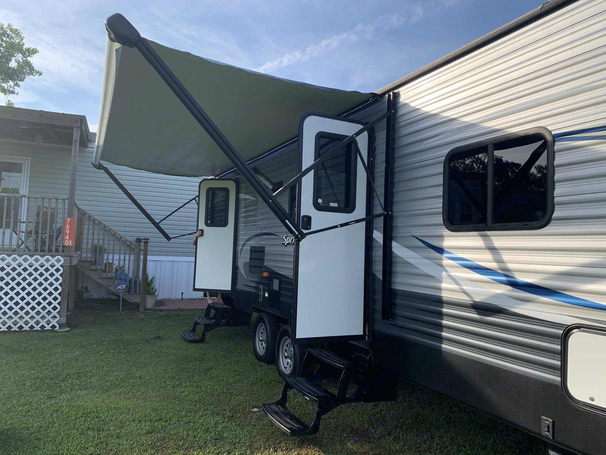 Outside with the Awning. Keystone Springdale 2018