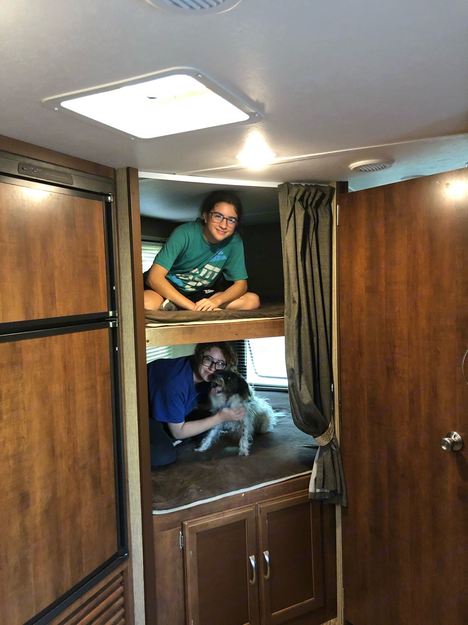 Double bunks for extra space for the kids!. Keystone Passport Grand Touring 2400BH 2017