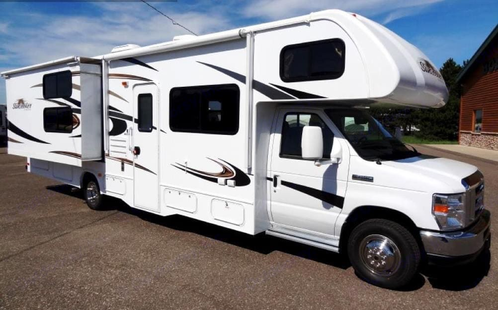 32 foot Class C with 2 slide outs. Forest River Sunseeker 2012