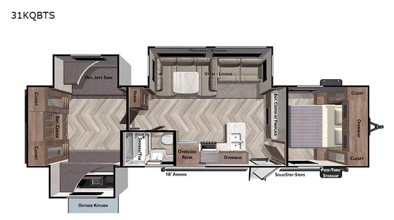 Huge bunkhouse!!. Forest River Salem 2021
