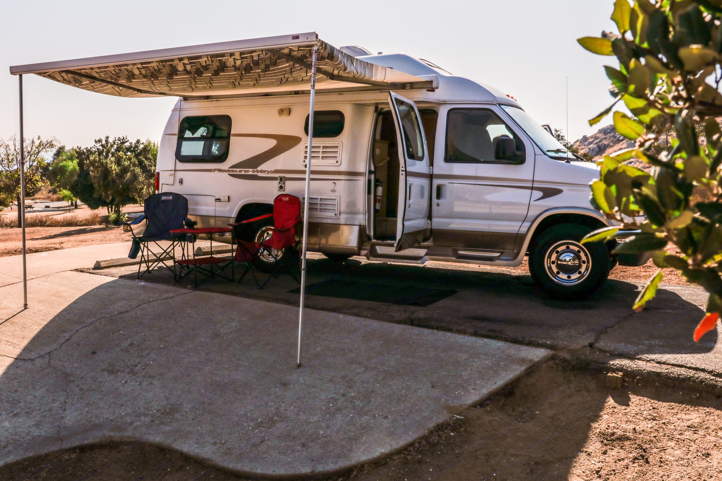 Awning setup with optional camp chairs and table. Pleasure Way Other 2006
