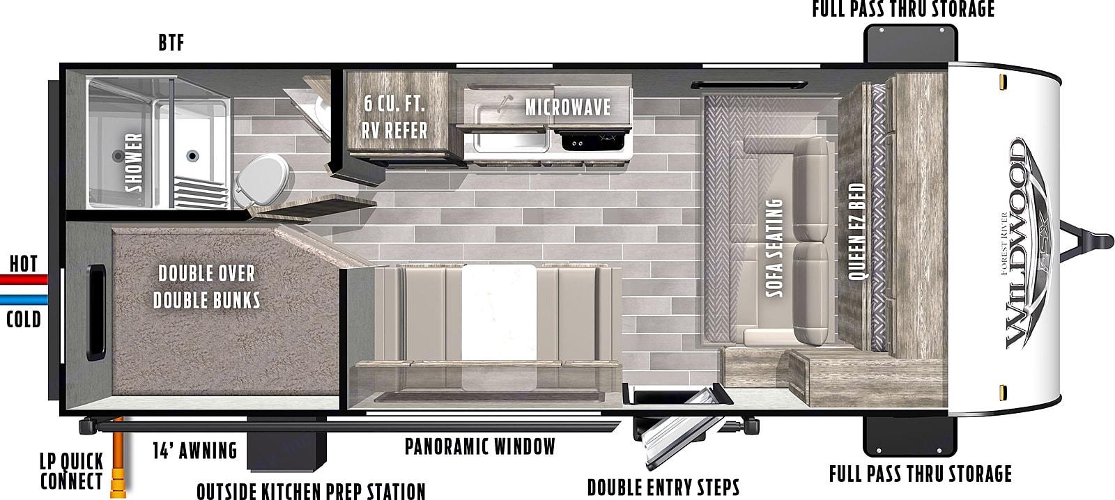 Floor Plan. Forest River Wildwood 2021