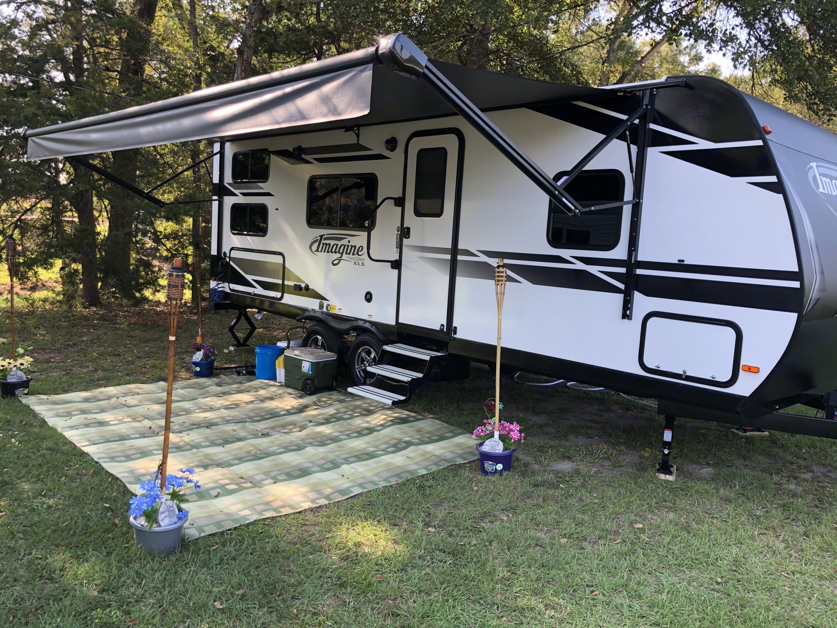 RV set up on our first camping trip.. Grand Design Other 2021
