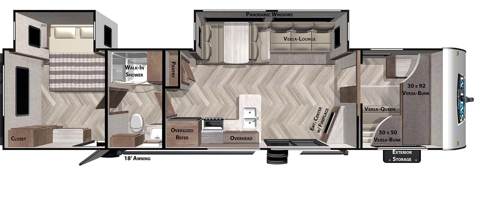 Floor plan. Forest River Salem 2020