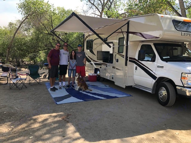 Enjoying a few days up in the Sierra's by the river.. Coachmen Leprechaun 2020