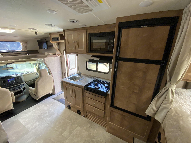 The kitchen set up.. Coachmen Leprechaun 2020
