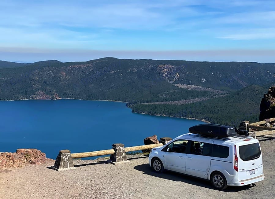 View from the top. Ford transit 2015