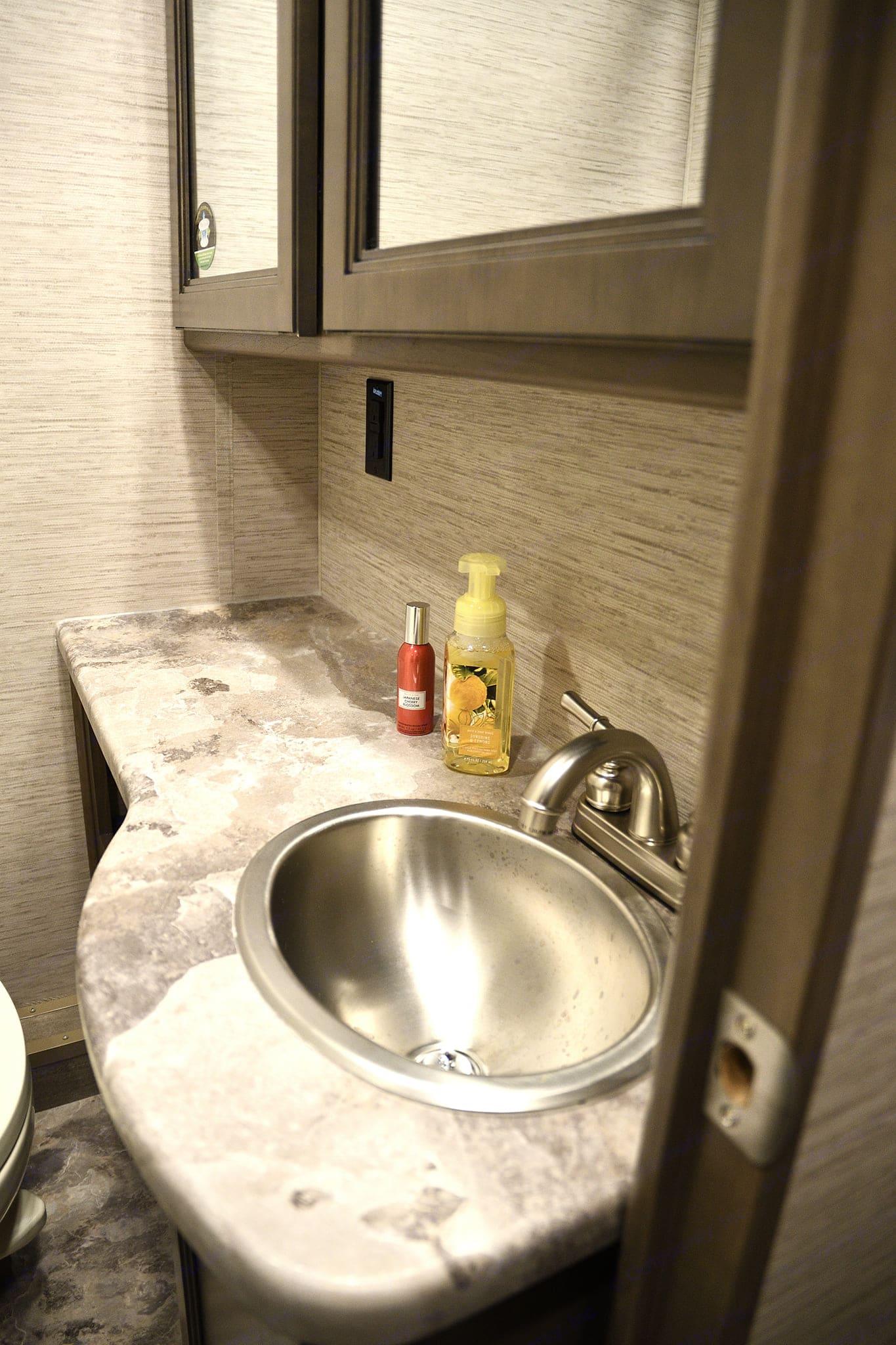 Bathroom sink. Thor Motor Coach Chateau 2021
