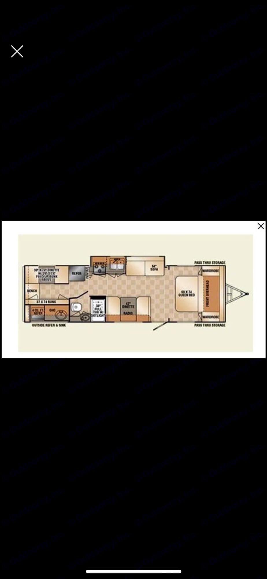 floorplan. R-Vision 29KBS Trail Sport 2014