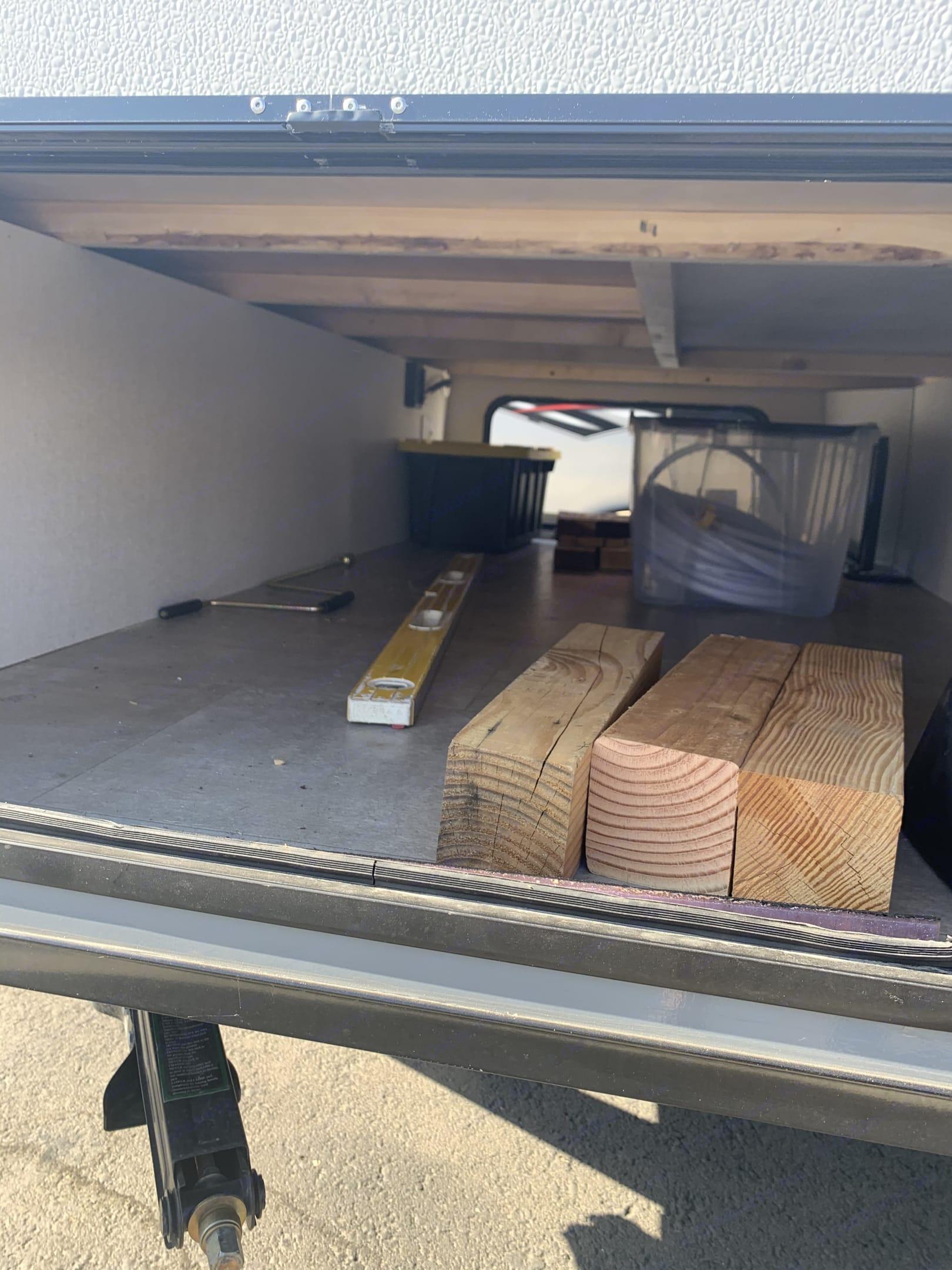 Pass through storage at the front. Coachmen Apex 2021