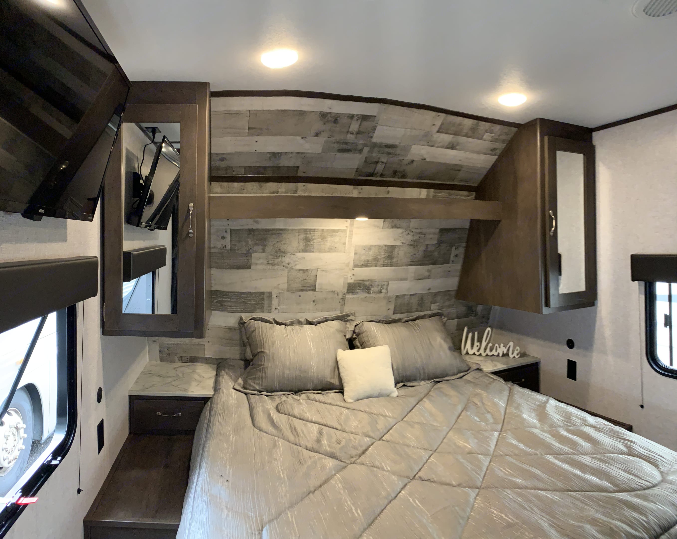 Masterbedroom with soft & cozy queen-size bed. Feel the comfort during travel in the most remote places of the country . Coleman Other 2021