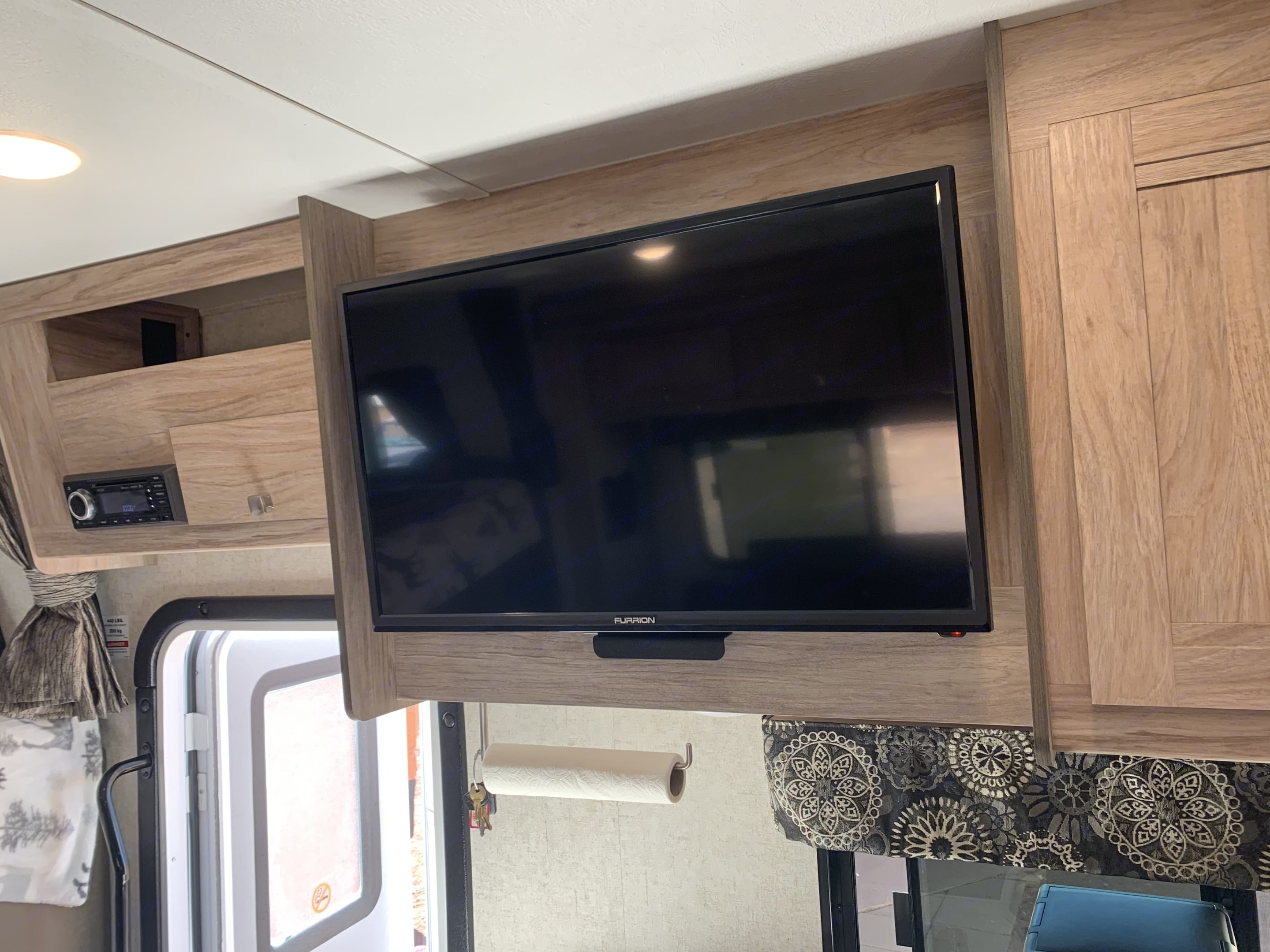 Living area 32 in TV (Roku hooked up). Forest River Forester 2019