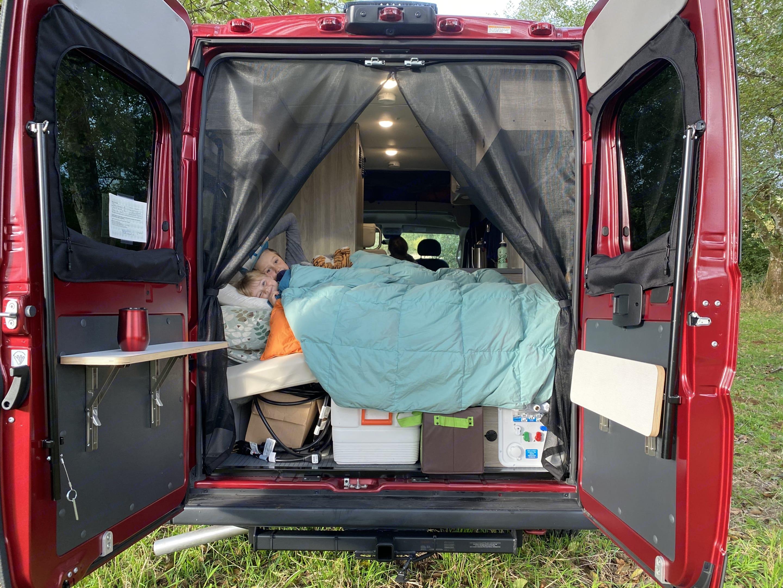 "Rear Sofa Bed, Short Queen (59""x71""). Winnebago Solis 2021"