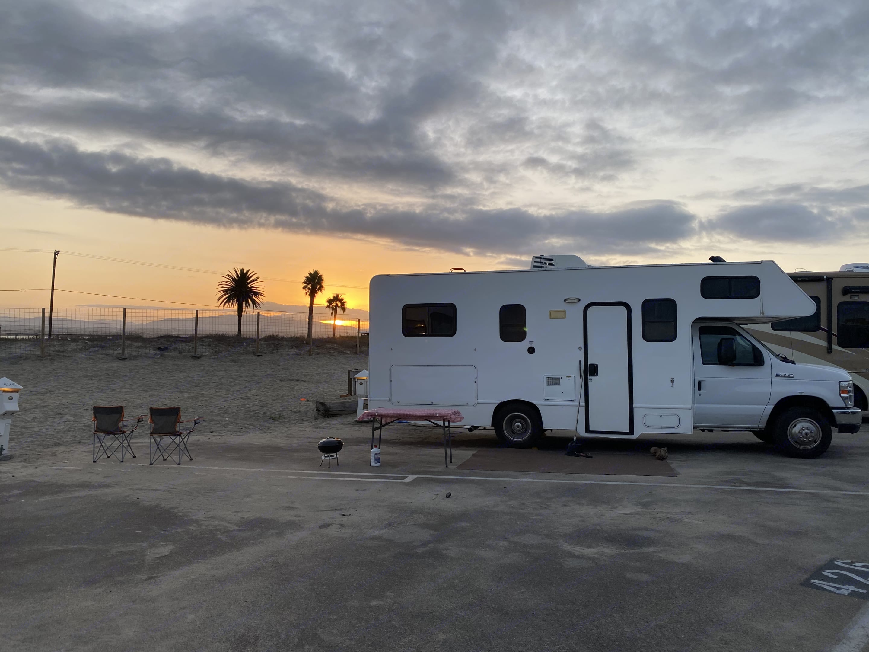 Enjoy Beautiful Sunrise at one of many Southern CA Beaches!. Thor Motor Coach Four Winds Majestic 2016