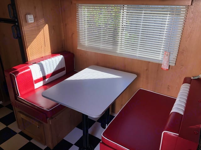 Dinette, Turns into a bed for your little one.. Riverside Rv Retro 2019