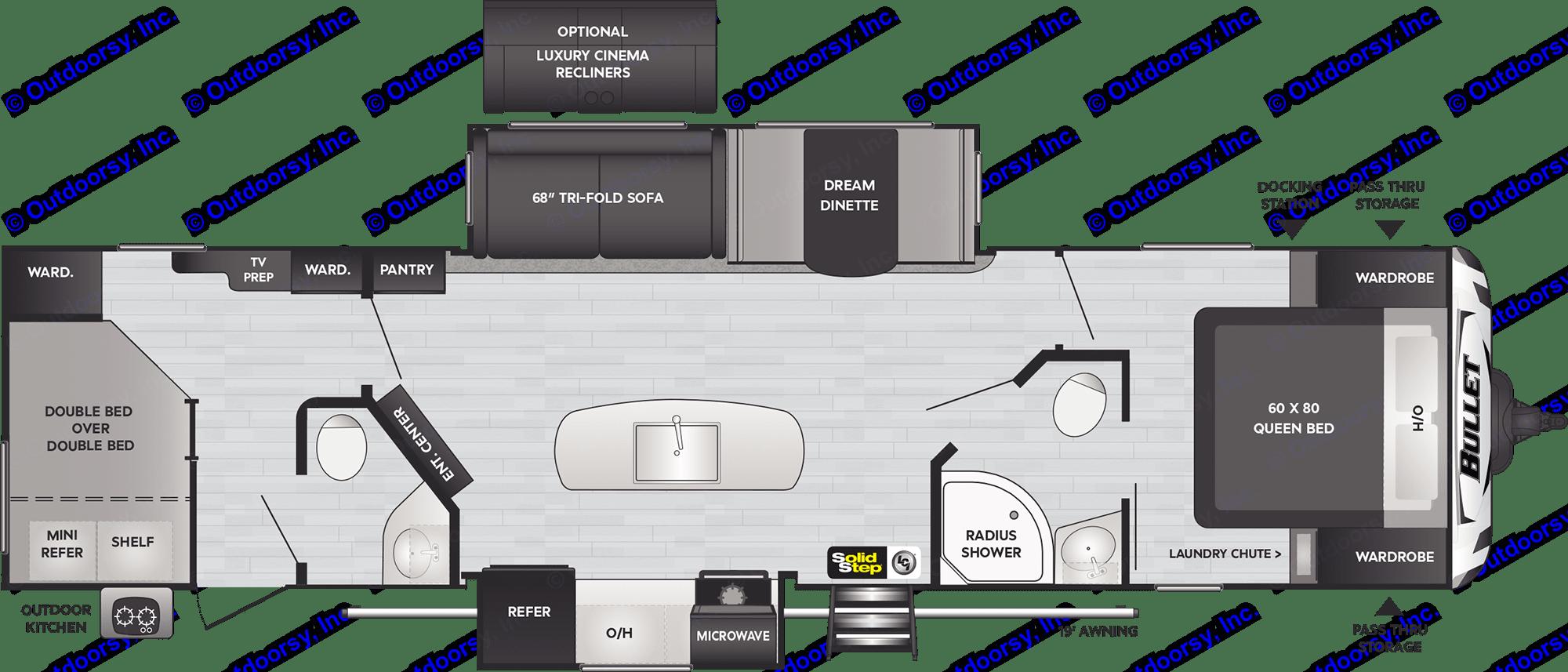 Floor Plan. Keystone Bullet 2020
