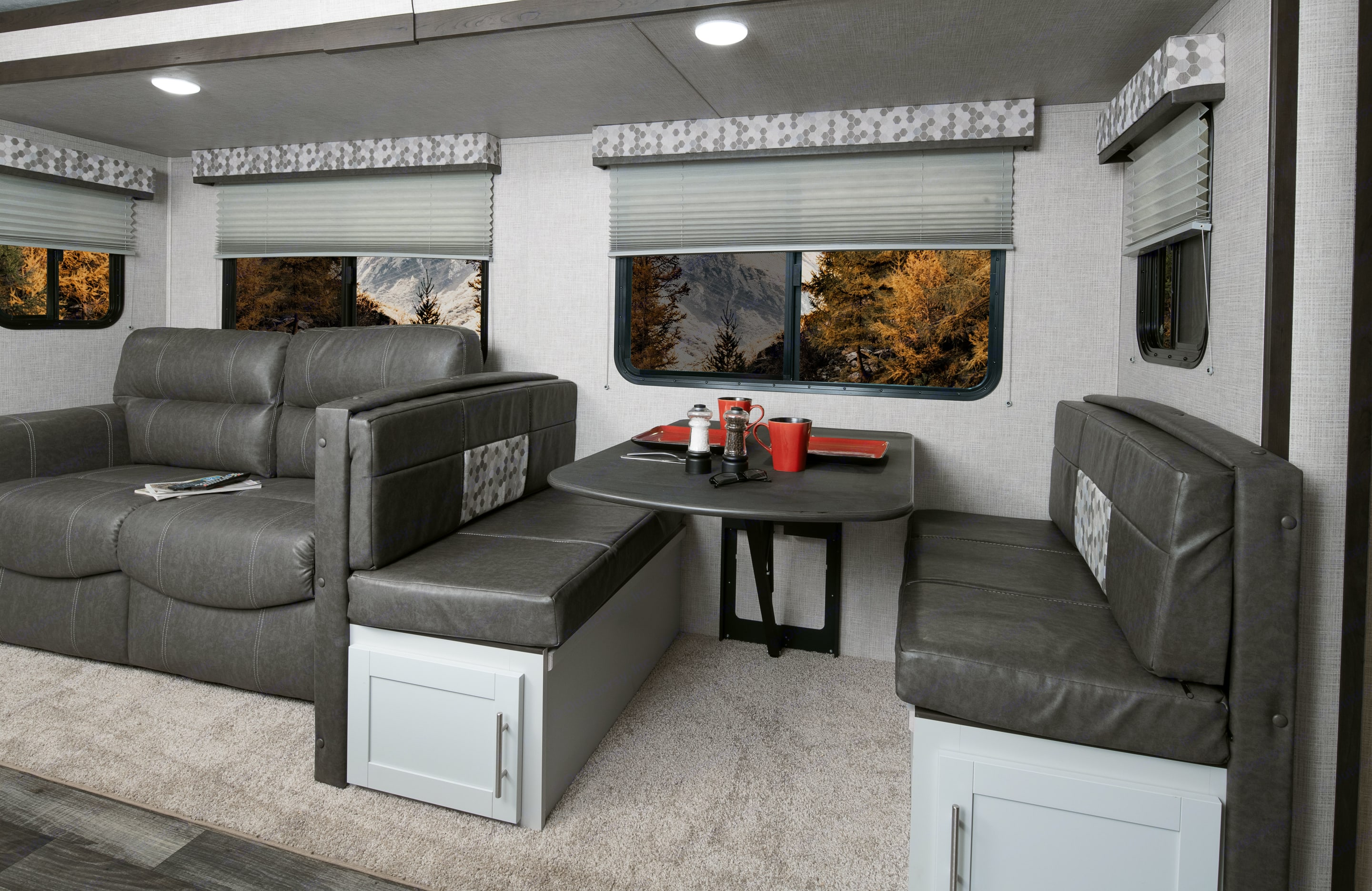 Love Seat and Dinette. Keystone Bullet 2020