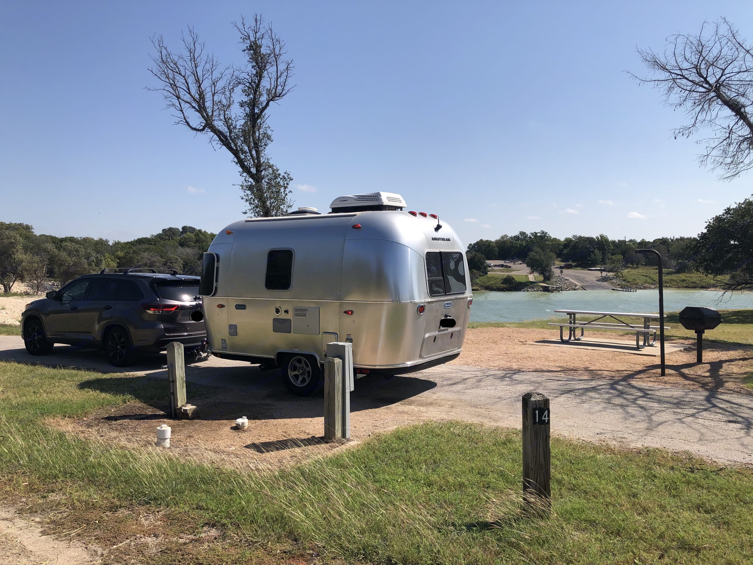 By the lake. Airstream Sport 2020
