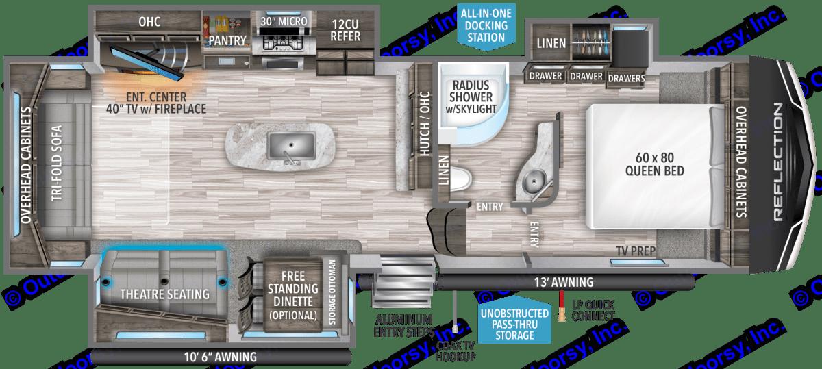 Floor Plan. Grand Design Reflection 2016
