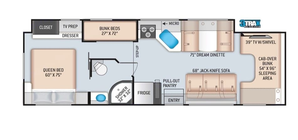 Lily's Floor Plan. Thor Motor Coach Chateau 2021